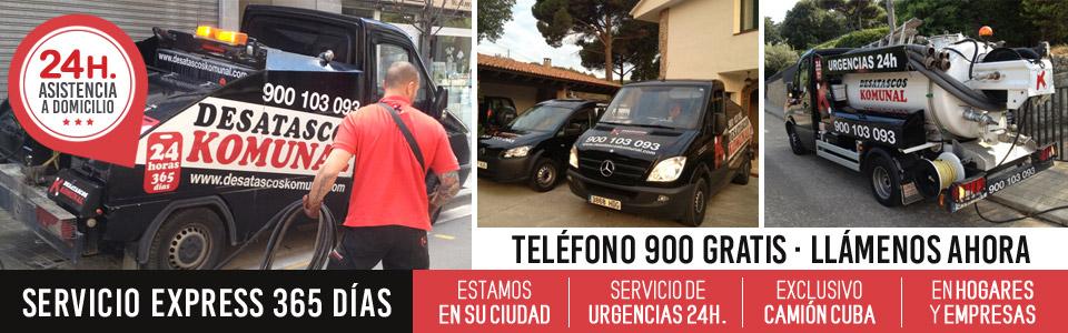 Camión cuba de Desatascos Mataró